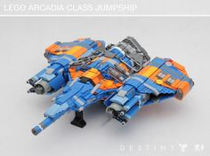 Find your destiny with this LEGO Arcadia-class jumpship http://www.brothers-brick.com/2016/03/03/find-your-destiny-with-this-lego-arcadia-class-jumpship/