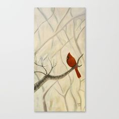 Cardinal / Winter Canvas Print