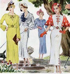 McCalls / 1935 ....that 2nd dress i luv it