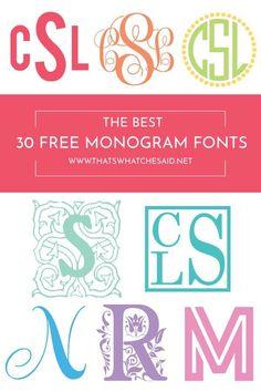 Free monogram fonts for cricut Cricut Monogram Font, Monogram Maker, Initial Fonts, Diy Monogram, Monogram Design, Cricut Vinyl, Monogram Fonts Free, Monogram Stencil, Embroidery Monogram Fonts