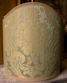 Venetian Lamp Shade Jade Silk Damask Rubelli by OggettiVeneziani