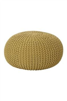 Buy Ochre Knitted Pod from the Next UK online shop Living Room Decor Colors, Living Room Grey, Next At Home, Next Uk, Ochre Bedroom, Bean Bag Lounger, Laid Back Style, Floor Cushions, Home Accessories