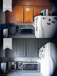 DIY Painting Wood Cabinets {Kitchen Cupboard Reno: Part Two} | best stuff @Whitney Menefee