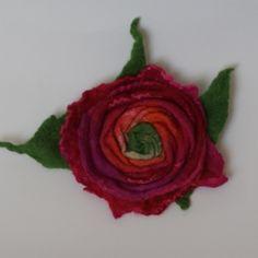 felted rose