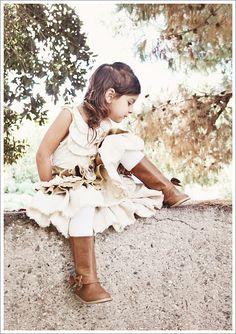 What Stella Wore ~ Ruffled Linen Prairie Skirt