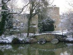 Allington Castle in winter