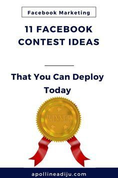 Facebook Contest Ide Facebook Contest Ideas that brands like you can use today to spark engagement increase brand awareness grow your email list and boost your followers count on Facebook. These contest and sweepstakes ideas are easy to plug and play without any hassle. blogging tips for beginners blogging tips and tricks wordpress blogging tips lifestyle blogging tips blogging tips ideas blogging tips writing blogging tips blogger blogging tips group board photography blogging tips fashion