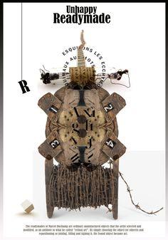 István Horkay Marcel Duchamp, Graphic Design Illustration, Objects, Clock, Posters, Artist, Watch, Artists, Clocks
