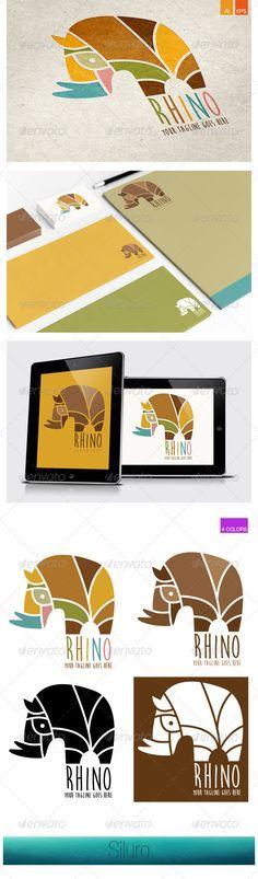 Rhino  Logo Design Template Vector #logotype Download it here: http://graphicriver.net/item/rhino-logo/7998302?s_rank=307?ref=nexion