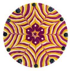Maravilhosos bolos veganos feitos de mandalas