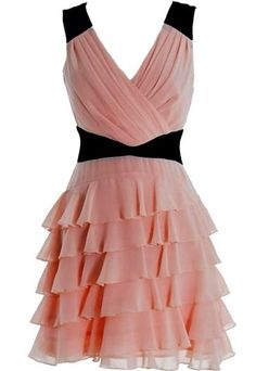 Valentine Vixen Dress | Pink Ruffled Chiffon Dresses | Rickety Rack