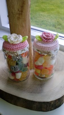 Lieve Moederdag potjes Pots, Jar Lids, Diy Crochet, Mason Jars, Diy Crafts, Elsa, Knitting, Pattern, Fun