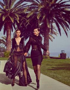 Adriana Lima & Irina Shayk by Luigi + Iango for Vogue España,
