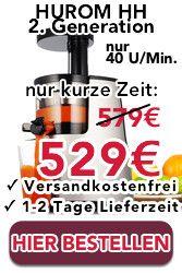 Hurom kaufen | ab 349 Euro Versandkostenfrei Fachhändler - Shop