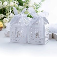 Ideal for wedding party decoration. We will do our best to solve problem. With simple and good-looking color. Laser cut design, novel and elegant. 10/50/100 pcs x Candy Boxes. Quantity: 10pcs. | eBay!