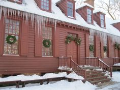 Pretty icicles at Colonial Williamsburg via Two Nerdy History Girls