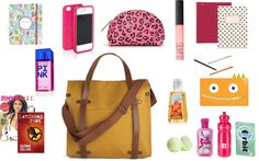 """Whats in my school bag"" by doseofglambition on Polyvore"