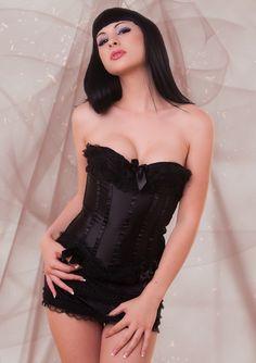 Bailey Jay in black corset