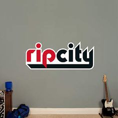 Portland Trail Blazers Rip City Logo Fathead Wall Decal City Logo 84640bd29
