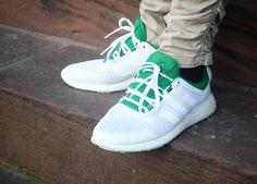 #Adidas Pure Boost Chill #White #Green