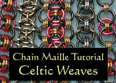 Chain Maille Tutorial - Celtic Weaves - Celtic Visions, Helm, Celtic Kisses via Etsy Wire Wrapped Jewelry, Metal Jewelry, Beaded Jewelry, Jewlery, Chainmaille, Chainmail Patterns, Schmuck Design, Jewelry Patterns, Wire Wrapping