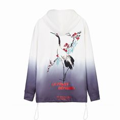 LFD Bird Hoodie(Full Embroidery Art)🧚♂️🧚♂️ Oriental screen print artistry is the inspiration behind this cotton hoodie. Comfort and practicality go hand in hand with a little Eastern refinement for a 21st Century take on mashed up urban realities. #embroideryart #hoodie