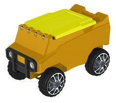 Remote Control ATV Cooler w/ Bluetooth in Yellow Body & Neon Yellow Top