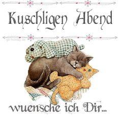 kuschligen Abend wünsche ich dir Good Night, Animals And Pets, Teddy Bear, Sleep, Humor, Inktober, Funny Things, Paper Mill, Good Night Angel