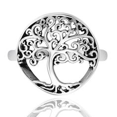 Sterling Silver Celtic Tree of Life Ring - Nickel Free GIFT BOXED  #inBliss #Band