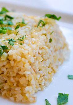 Bulgur Wheat Pilaf Recipe - great side dish idea, sans almonds