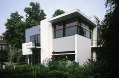 The Rietveld Schröder House in The Netherlands is a prime example of architecture from the De Stijl movement.