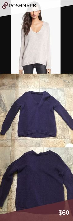 Theory Airmix Sweater Gently used in good condition. 60% Wool, 30% cotton, 10% polyamide. Size s/p. Dry cleaned, ready to wear. Color is purple. Theory Sweaters