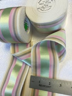 10 Yards of Vintage Gros Gain Ribbon. Made in France.Grosgrain, Ribbon ,Trim,Vintage Grosgrain, Rayon Millinery, Petersham Grosgrain by AnafrezNotions on Etsy