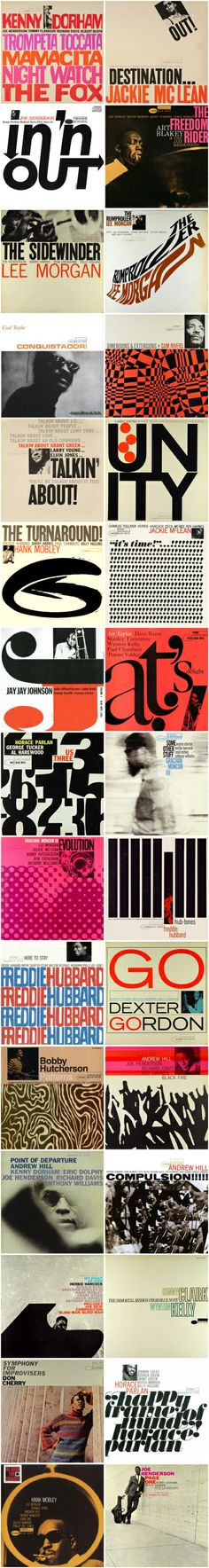 Some stunning LP covers from the Blue Note records catalogue.