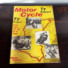 Vintage 1965 Motor Cycle TT Report Magazine Isle Of Wight Motor Racing Bike Racing by VintageBlackCatz on Etsy