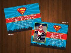 Superman Birthday Invitation  DIY Printable File by DreamOfStyle, $25.00