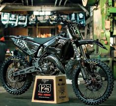 """Hot or not? The """"Hell Raiser"""" a full custom Yamaha 2016 made by . Amazing photo by . Dirt Scooter, Dirt Bike Gear, Dirt Bike Racing, Cool Dirt Bikes, Mx Bikes, Motorcross Bike, Off Road Bikes, Pit Bike, Dirtbikes"""