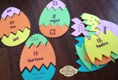 Learning with Easter Eggs (older child edition) Easter Activities For Kids, Kids Learning Activities, Spring Activities, Kindergarten Activities, Fun Learning, Toddler Activities, Preschool, Easy Easter Crafts, Easter Ideas