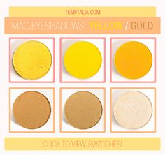 MAC Eyeshadow Swatches: Yellow & Gold