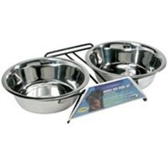 Dogit SS Double Diner Dish XL, 67.5 oz, Silver