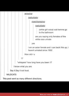 This post went in so many directions.