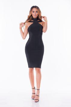 Ayla Bandage Dress- Black