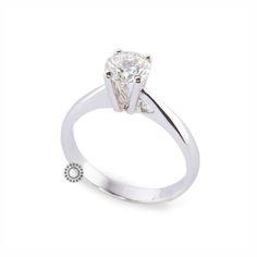 Μονόπετρο δαχτυλίδι ακριβό με διαμάντι Brilliant από λευκόχρυσο Κ18 | Μονόπετρα δαχτυλίδια ΤΣΑΛΔΑΡΗΣ στο Χαλάνδρι από το 1958. #μονόπετρο #rings #diamond #gold