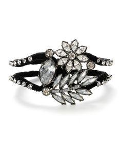 Betsey Johnson crystal toggle wrapped bracelet