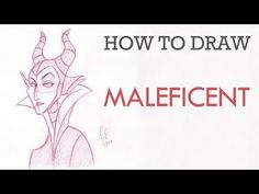 How To Draw Maleficent - YouTube
