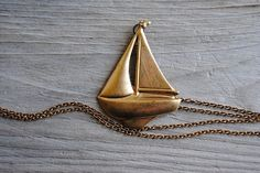 Vintage Sailboat Necklace #fashion #style #accessories