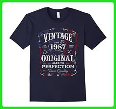 Mens Vintage Made In 1987 Birthday Gift T-Shirt US Flag July 4th 3XL Navy - Birthday shirts (*Amazon Partner-Link)