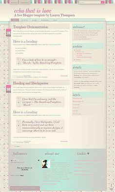 Echo That Is Love Blogger Template