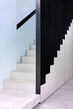 Stairs - Goldhurst Terrace by Nord Architects Wooden Staircase Design, Stair Railing Design, Home Stairs Design, Stair Decor, Wooden Staircases, Interior Stairs, Spiral Staircases, Metal Stairs, Modern Stairs