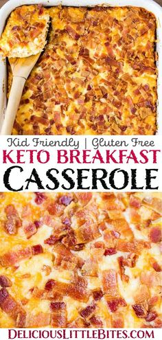 Keto Breakfast Casserole – a super low carb casserole made with bacon, egg, cheese, and riced cauliflower to keep it … Low Carb Breakfast Casserole, Breakfast Recipes, Bacon And Egg Breakfast, Breakfast Casserole With Bacon, Bacon Egg And Cheese Casserole, Breakfast Ideas, Low Carb Breakfast Easy, Keto Diet Breakfast, Keto Casserole